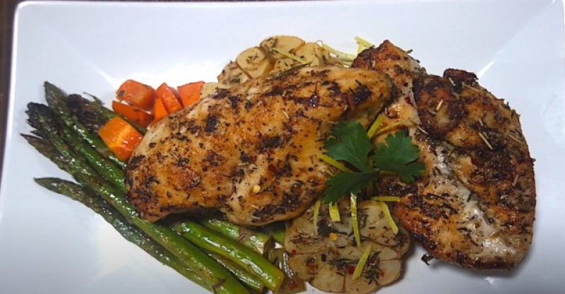 how to cook chicken breast in a dutch oven